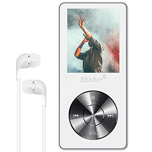 MP3 Player, Elinker Metal Music Player with Built-in Speaker, HD Headphone,1.8 inch Display 8GB Portable Lossless Sound 45 Hours Playback, FM Radio, Video, E-Book Support Extendable Up to 128GB