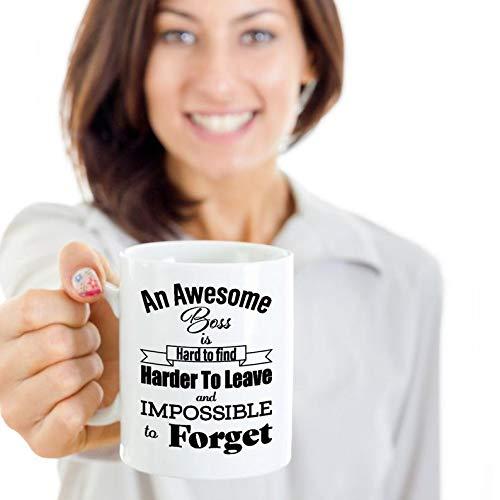 Zor345damilla - Regalos de jubilación para jefe señora, regalos de despedida para jefe masculino, regalos para jefe que se vaya, regalos de agradecimiento para jefe despedida taza de café