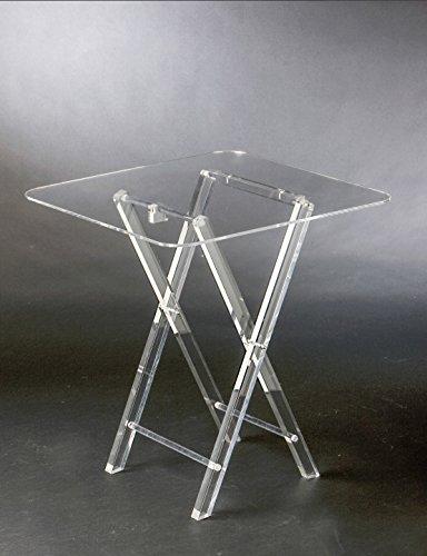 Ahtoplex PLEXILAND - Tavolino Pieghevole Ripiano 50x70h55 in Cristallo Acrilico