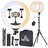 KAFiIN Upgraded Ring Light 65W 22 Inch LED Ring Light Kit with Stand Color Temperature Circle Lighting for YouTube, Tiktok, Makeup, Video, Selfie, iPhone Samsung Android