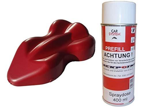 Lackpoint 1 Contenitore Spray 400ml 1K Vernice Auto Rubin Rosso Metallizzato Opaco Nessun Vernice Trasparente