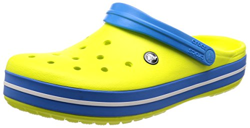 crocs Unisex-Erwachsene Crocband U Clogs, Tennis Ball Green-Ocean, 41/42 EU