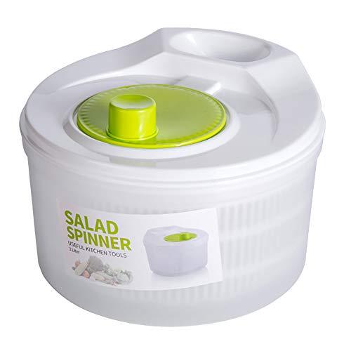 Ensalada Spinner – Lavadora de ensalada, 5 L para secador de ensalada con cesta de lavado de verduras, escurridor deshidratador de frutas para el hogar, lavadora manual de ensaladas para cocina