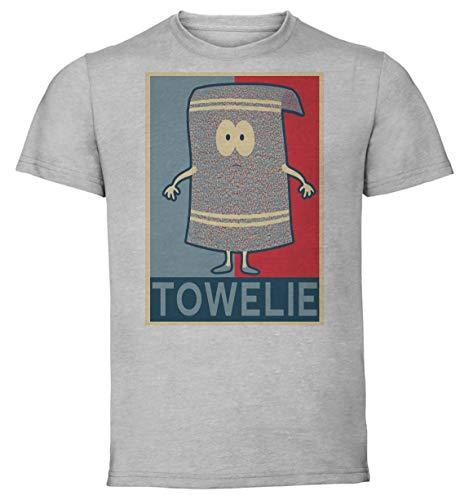 Instabuy T-Shirt Unisex - Grey Shirt - Propaganda - South Park Towelie Size Small