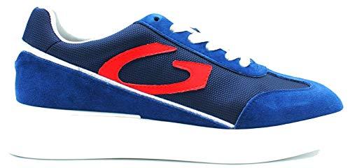 Alberto Guardiani Art.101037 Sneaker, Uomo in Camoscio Blu (Numeric_42)