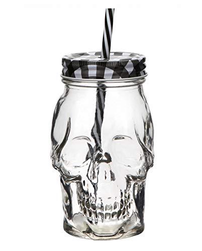 Bicchiere Tiki Mug con forma Teschio in vetro 45 cl per bere un cocktail Aperitivo Drink e per ogni occasione.