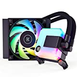 EK 120mm AIO D-RGB All-in-One CPU Liquid Cooler with EK-Vardar High-Performance PMW Fans, Water Cooling Computer Parts, 120mm Fan, Intel 115X/1200/2066, AMD AM4
