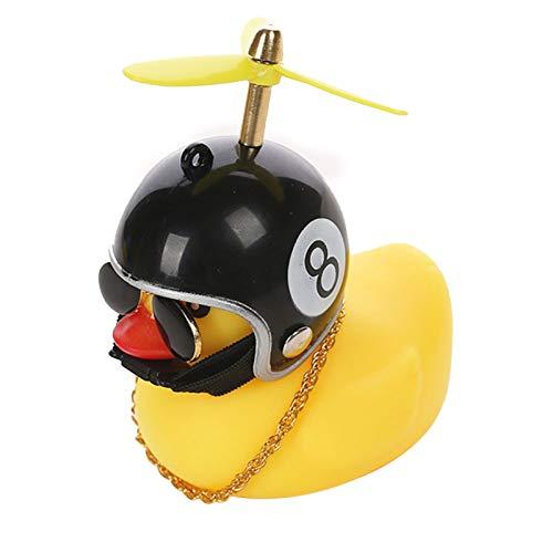 lefeindgdi Pequeño pato amarillo decoración de coche, cortavientos patito con casco, accesorios...