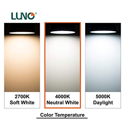 LUNO A21 Dimmable LED Bulb, 15W (100W Equivalent), 1600 Lumens, 4000K (Neutral White), Medium Base (E26), UL Certified (4-Pack)