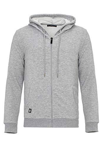 Redbridge Herren Sweatjacke Kapuzenpullover Zip Hoodie mit Reißverschluss Premium Basic Grau XXL