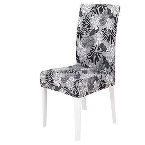 1/2/4/6 pc alle grijze kleur bedrukte stoelhoes wasbaar verwijderbare grote elastische stoelarmhoezen kussenovertrekken stretch voor bankethotel, 4, CHINA