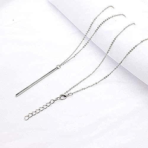 Yiffshunl Collar, Collar, Mujer, Simple, Palo Largo, Collares Colgantes, Cadena Larga de Metal, Gargantilla, Collar de Regalo para Mujeres y Hombres