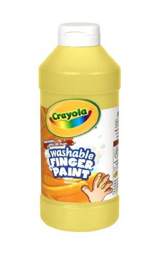 Crayola Fingerpaint, Yellow, 32 Ounces, Washable Kids Paint, Ages 3+, Quart