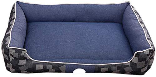 Durable Dog Bed – slaapzak voor huisdieren, licht en afneembaar, voor huisdierbed, comfortabele bank voor huisdieren, met kussen voor middelgrote en grote katten (kleur: blauw, maat: L), L, Blauw