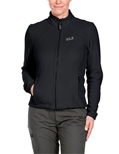 Jack Wolfskin Damen Fleece Jacke Moonrise Jacket, Black, XL, 1701781-6000005