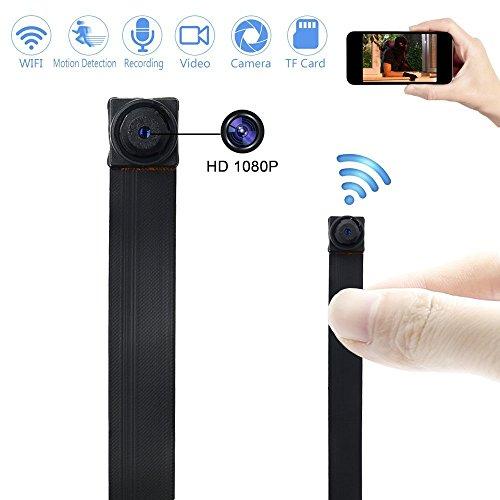 Cámara Espía WIFI TANGMI 1920x1080P HD Mini Cámara Oculta Sin Hilos Activado por Movimiento DIY Videocámara DV 7/24 Horas de Trabajo Android IOS iPhone