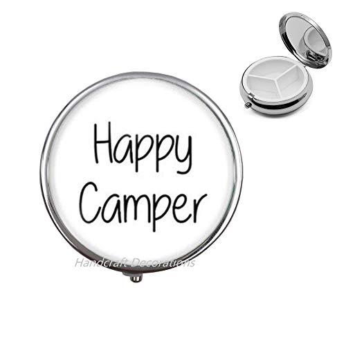 Happy Camper Pill Box-Happy Camper Pill Case-Happy Camper Jewelry-Gifts-Best Friend Pill Box-Simple Pill Box.F123