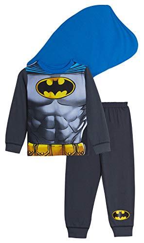 Kinder/Jungen Faschingskostüm - Lustiger Schlafanzug - Batman mit Cape - 3-4 Jahre