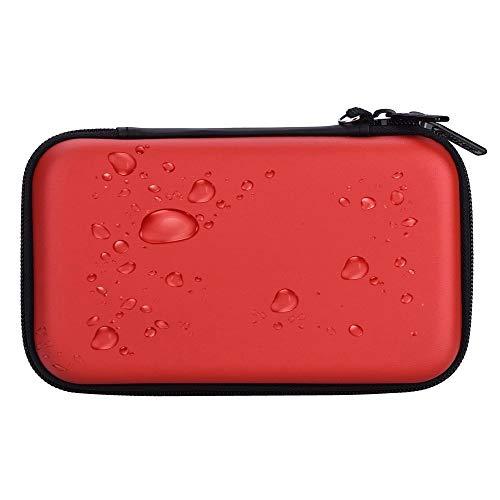 Homeself Valigetta Rigida per Accessori elettronici, Custodia portaoggetti per Disco U, Scheda SD, unità Flash USB, Banche di Alimentazione e Disco Rigido (Rosso)