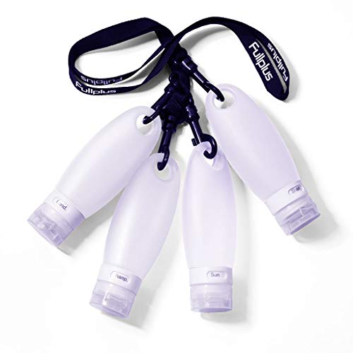Silicone Travel Bottle Set TSA Approved Carry On Shampoo...