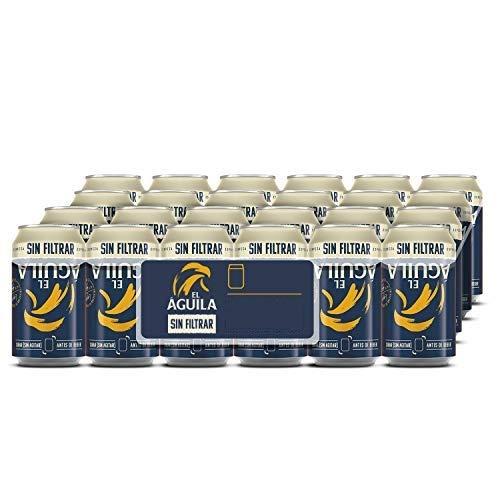 El Águila Ungefiltertes Bier Dose DPG Bierpaket (EINWEG 36x33cl) (Pack 36 Dosen) Beer, Sor, Ol, Cerveza, Piwo, Olut, Biere, пиво, bier geschenke, biere der welt, san miguel bier, bier set
