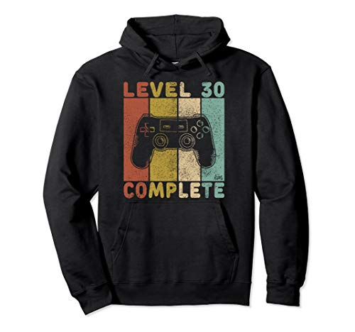 30. Geburtstag Männer Gamer Level 30 Complete 30 Jahre Pullover Hoodie