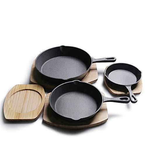 Non-stick pan Cast Iron Pan Skillet Frying Pan Cast Iron Pot Best Heavy Duty Professional Seasoned Pan Cookware For Frying Saute Cooking Frying pan (Sheet Size : 20cm 7.9inch)