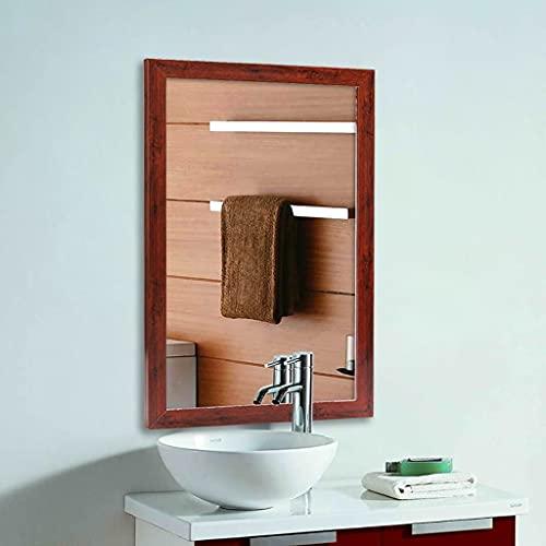 zcyg Espejo baño Espejos Pared Mirror Espejo De Pared, Montaje En Pared Exquisito Enmarcado Espejo Espejo De Afeitado Espejo De Afeitado Decoración De Baño(Size:50 * 70CM,Color:Rojo)