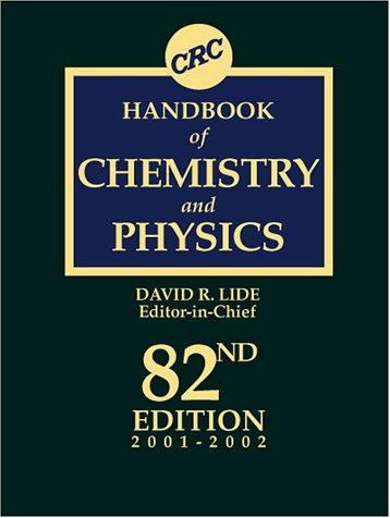 CRC Handbook Of Chemistry And Physics, 82nd Edition