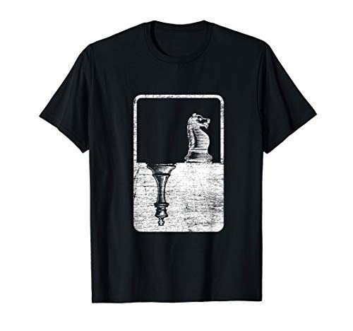 Schachspieler Geschenk Pferd Springer König Schach T-Shirt