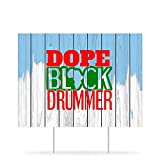 by Unbranded Yard Signs with Stakes Musician for, Drummer, Black and Proud, Black Drummer, Yard Sign Stakes Decorations 2021 Lawn Signs Weather-Proof Outdoor Signage