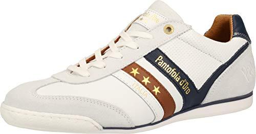 Pantofola d'Oro VASTO Uomo Low XL Sneaker in Übergrößen Weiß 10203049.1FG/10203081.1FG große Herrenschuhe, Größe:50