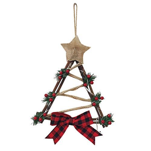 About1988 Weihnachtskranz, Best Season LED-Tannenkranz mit Schneedecor, Batterie betrieben, für Deko, Weihnachten, Advent, als Stimmungslicht, Türkranz (B)