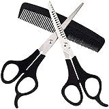 Juego de tijeras de peluquería de acero inoxidable de 6,5 pulgadas para adelgazar y tijeras de pelo profesionales para peluqueros para corte y adelgazamiento de pelo - para hombres, mujeres y niños