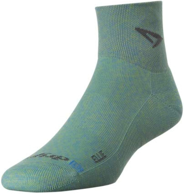 Drymax Lite Trail Run 1 4 Crew Turndown Socks Lime Green Black S 2Pack