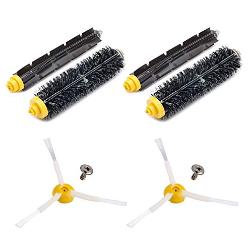 Neutop Brush Replacement for iRobot Roomba 675 677 671 670 665 655 645 Robot Vacuums ONLY, with 2 Bristle Brushes, 2 Flexible Beater Brushes, 2 Edge Sweeping Brushes, 2 Screws.