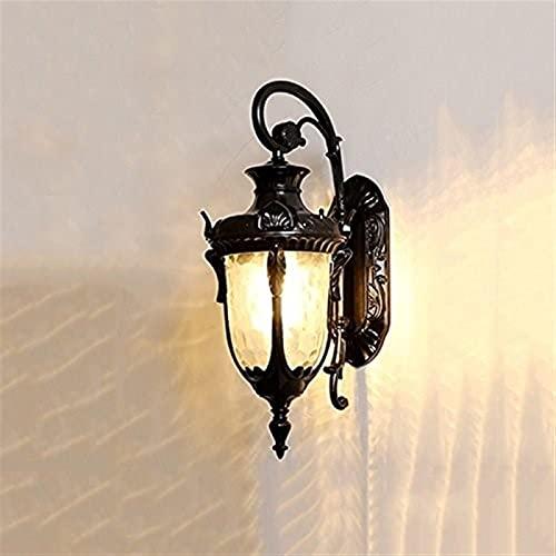 De estilo europeo Lámpara de pared exterior impermeable americana Villa retro del pasillo DIRIGIÓ Luz exterior montado en la lámpara de las luces de montaje en pared de lectura Restaurantes Vanidad Al