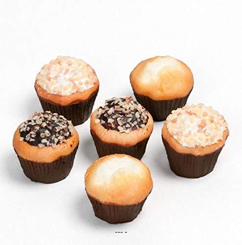 Artificielles.com - Muffins artificiales X6 en bolsa de comida falsa decoración