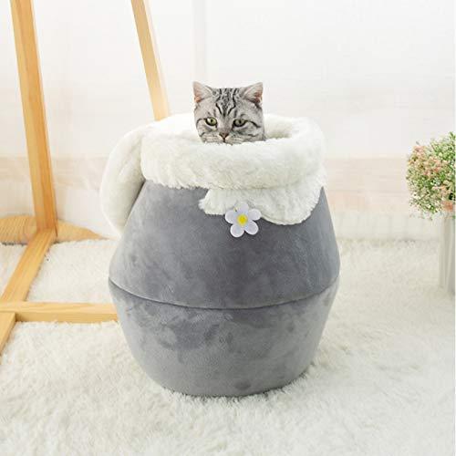 MHBY Cama para Mascotas, Cama para Mascotas Tres en uno para Gatos y Perros Perrera Suave Cama para Gatos Cuenca casa Cueva Saco de Dormir cojín Carpa Mascota Invierno
