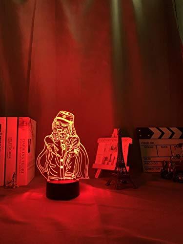 Lámpara de anime Danganronpa V3 Killing Harmony LED Game Lamp Korekiyo Shinguji para dormitorio, decoración infantil, mando a distancia