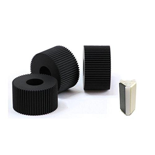 シルバー精工 自動紙折り機 MA150用 消耗部品 給紙ゴムローラー3個+マルチフィードパッド1個