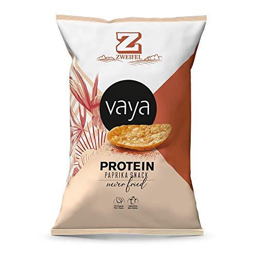 VAYA Paprika Protein Snack Chips - feinen Salznote, 40 % weniger fett, pflanzliche Proteine, aus knusprigen Kartoffeln von Zweifel (6 x 80g)