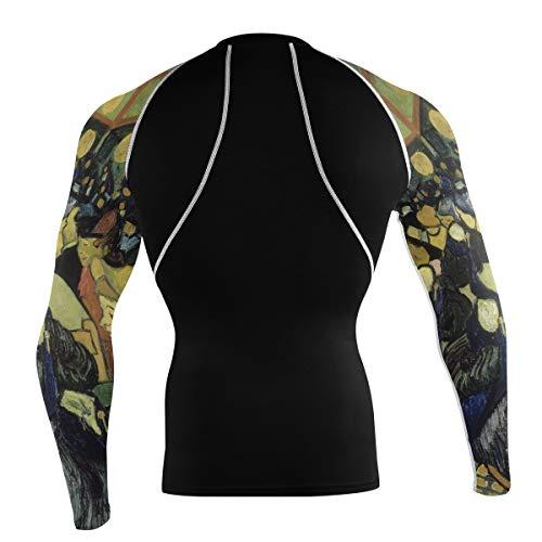 Fantazio Van Gogh Dance Hall T-shirt à manches longues pour vélo de montagne et vélo de route - - XL