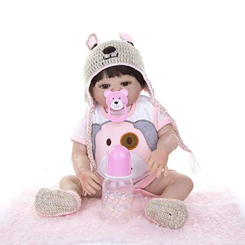 Dytxe-doll Lebensechte Reborn Babypuppen Weiche Vinyl Silikon Geburtstagsgeschenk Wiedergeboren Babypuppe Pflege Puppen 55Cm Lebensechte Mädchen,C