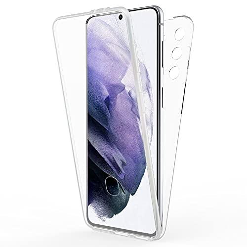NALIA 360 Grados Carcasa Compatible con Samsung Galaxy S21 Plus Funda, Transparente Full-Body Case Claro Proteccion Integral Hardcase Trasera & Delantera Protector Pantalla, Delgado Cover Resistente