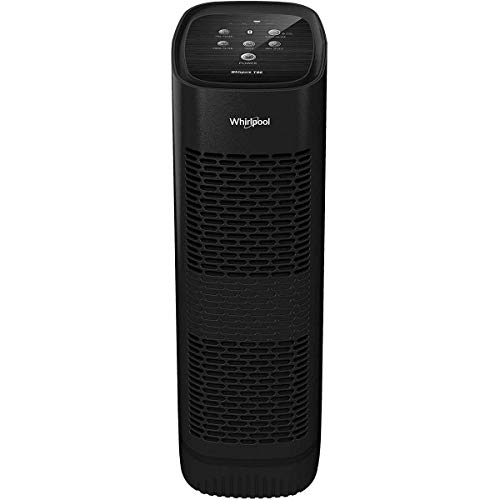 Whirlpool Whispure WPT80B, True HEPA Purifier, Activated Carbon Advanced Anti-Bacteria, Ideal for Allergies, Odors, Pet Dander, Mold, Smoke, Smokers, and Germs, Large, Black