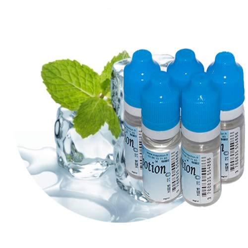 MA POTION - Lot de 5 E-liquide Menthe Fraîche - 5x10ml = 50ml - Recharge Eliquide Français pour cigarette électronique - Sans nicotine ni tabac