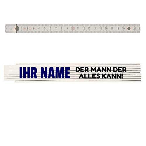 Zollstock mit Namen personalisiert: Name - Der Mann der alles kann! Personalisierbar Opa, Papa