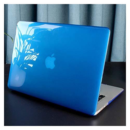 Caja De Plástico De Cristal para Computadora Portátil para MacBook Pro 13 para MacBook Pro 15 16 A2289 A2251 A1706 A1989 A1707 A2159 (Color : Dark Blue, Size : A2159 A1706 A1989)