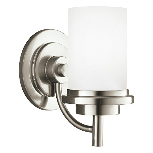 Sea Gull Lighting Generation 44660-962 Transitional One Light Wall Sconce from SeaGull-Winnetka collection in Pewter, Silver finish, 8.75 inches, Brushed Nickel